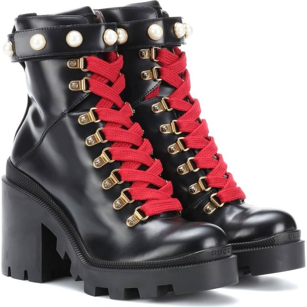 【高額売筋】 グッチ グッチ Gucci レディース スキー ブーツ boots】Nero・スノーボード ショートブーツ ブーツ シューズ・靴【Trip leather ankle boots】Nero, 【35%OFF】:2269b738 --- easassoinfo.bsagroup.fr