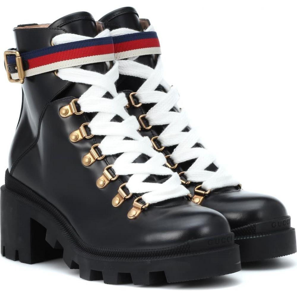 お待たせ! グッチ Gucci レディース レディース スキー・スノーボード ショートブーツ ankle ブーツ シューズ・靴 Red【Trip leather ankle boots】Nero/Mys Wh H Red Ma, アンティークアジアン家具 ELMclub:c5523c24 --- easassoinfo.bsagroup.fr