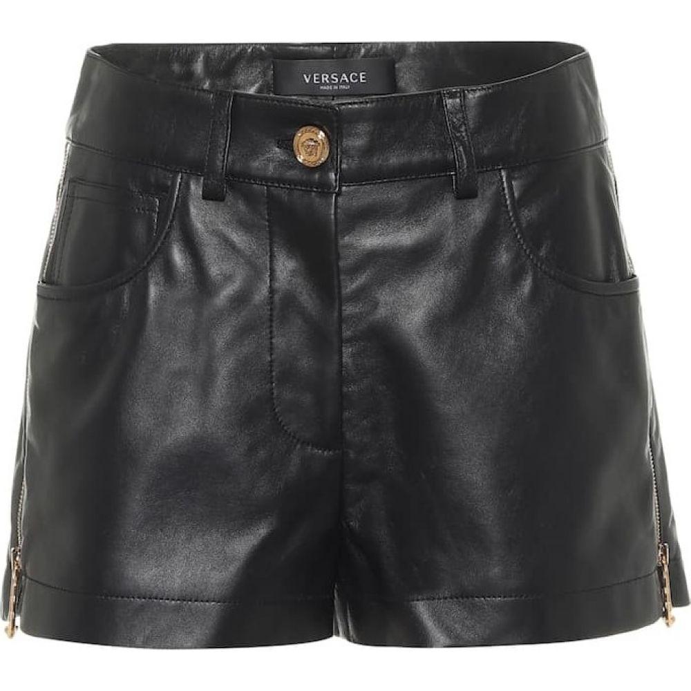 ヴェルサーチ Versace ショートパンツ shorts】Nero レディース ボトムス・パンツ【Leather