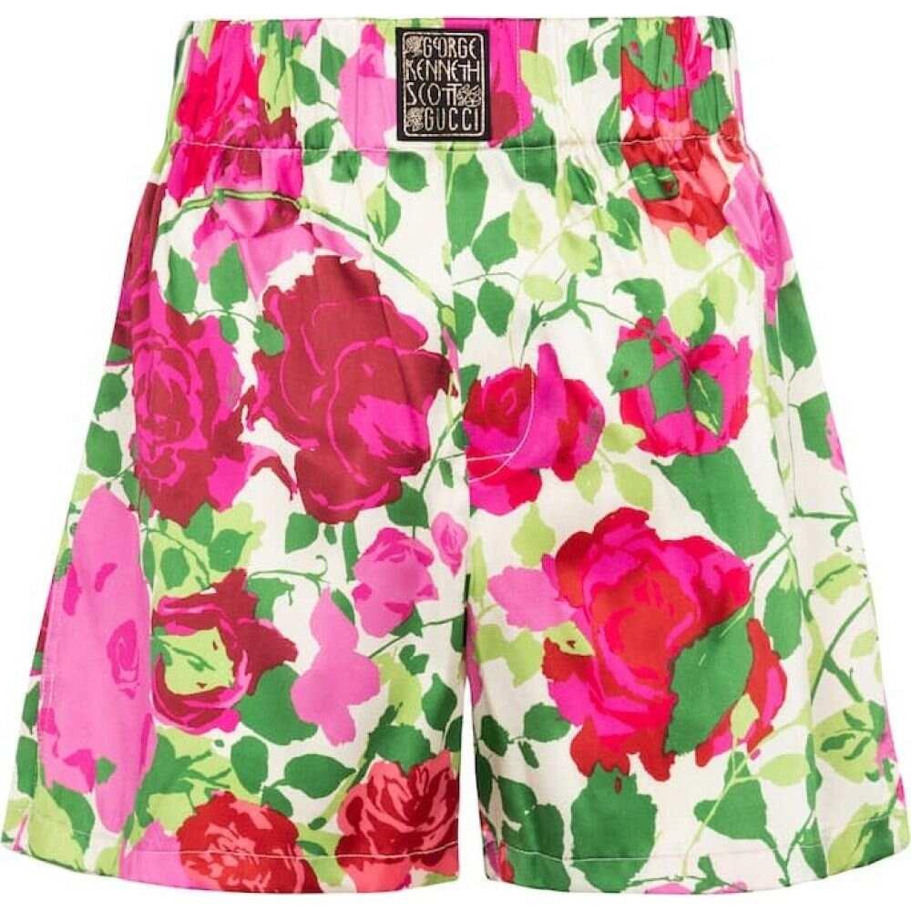 ブランド品専門の グッチ Gucci レディース ショートパンツ ボトムス Scott・パンツ shorts】Pink/Ivory【x Ken レディース Scott floral stretch-silk shorts】Pink/Ivory, 不二精機:3d208678 --- ironaddicts.in