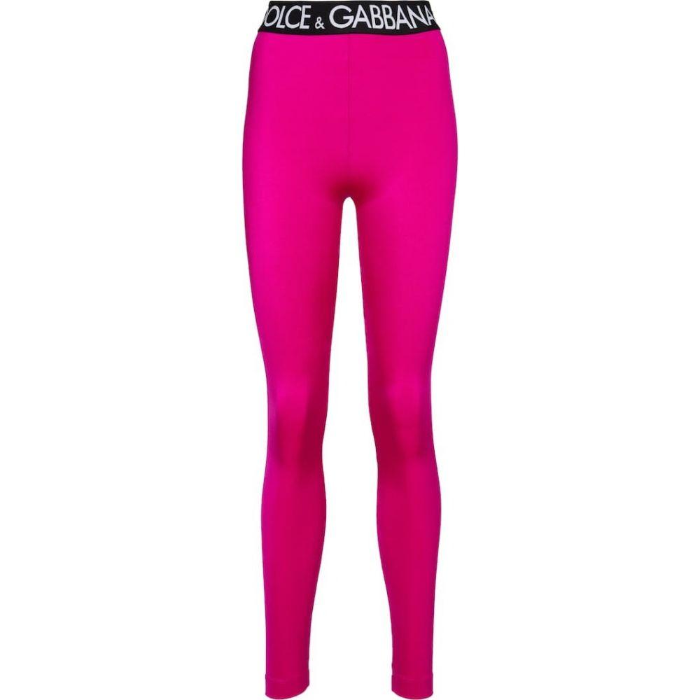 ドルチェ&ガッバーナ Dolce & Gabbana レディース スパッツ・レギンス インナー・下着【Logo leggings】Ciclamino