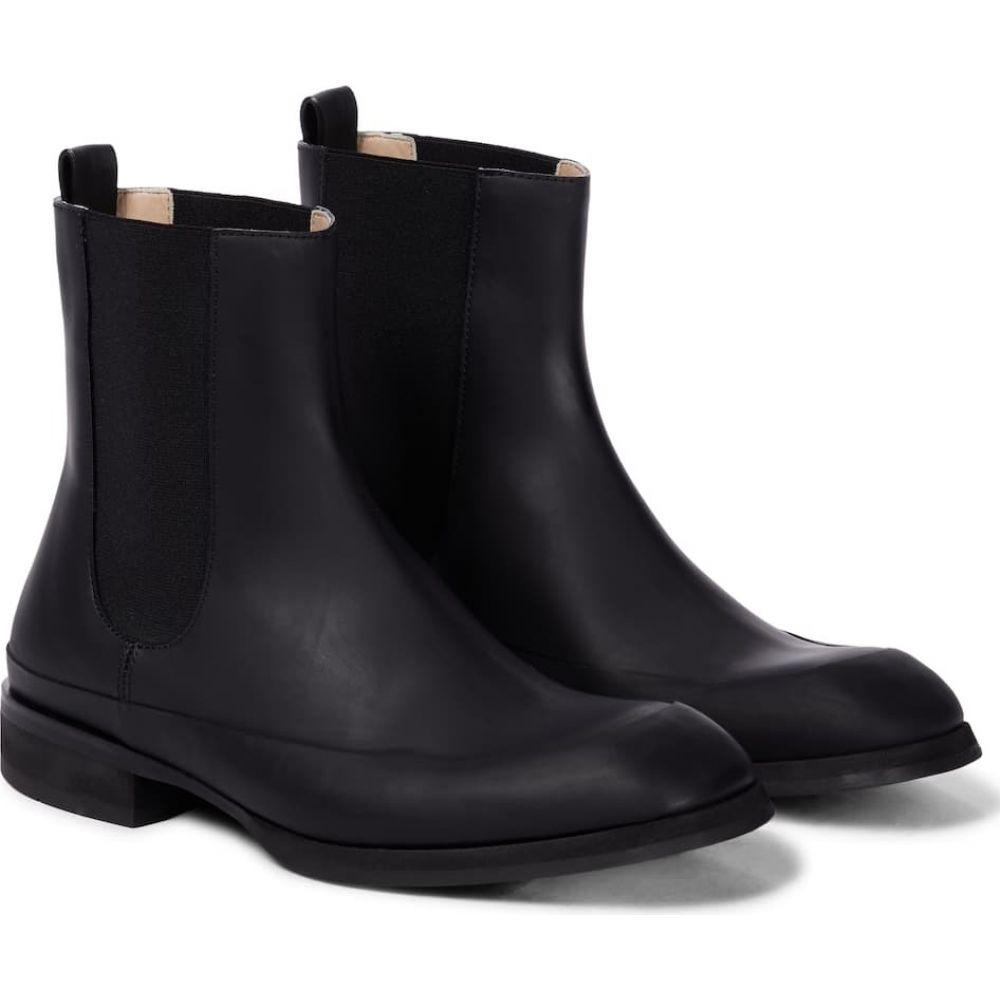 ザ ロウ The Row レディース ブーツ チェルシーブーツ シューズ・靴【Garden leather Chelsea boots】Black