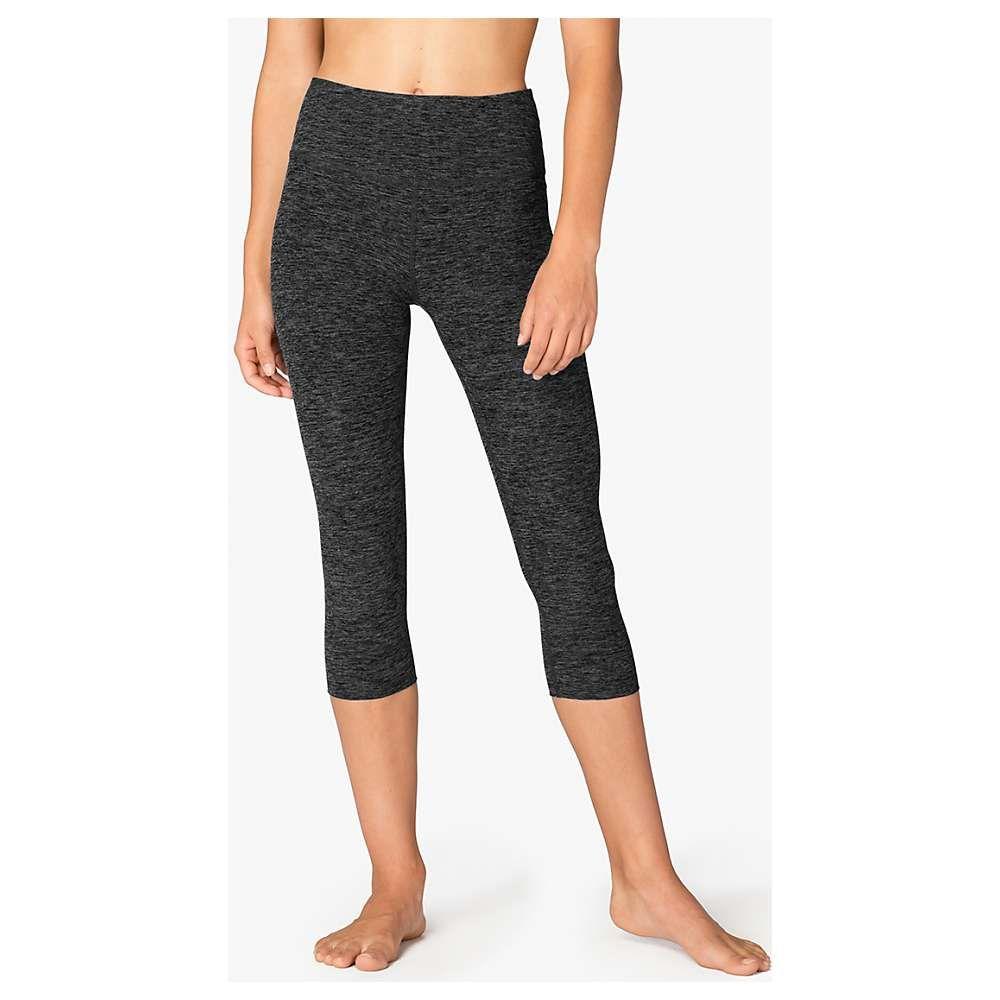 ビヨンドヨガ Beyond Yoga レディース ヨガ・ピラティス ボトムス・パンツ【Spacedye High Waist Capri Legging】Black/White SD