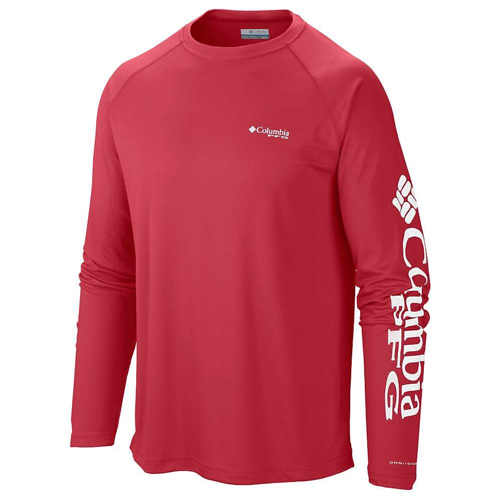 コロンビア Columbia メンズ ハイキング・登山 トップス【Terminal Tackle LS Shirt】Sunset Red / White