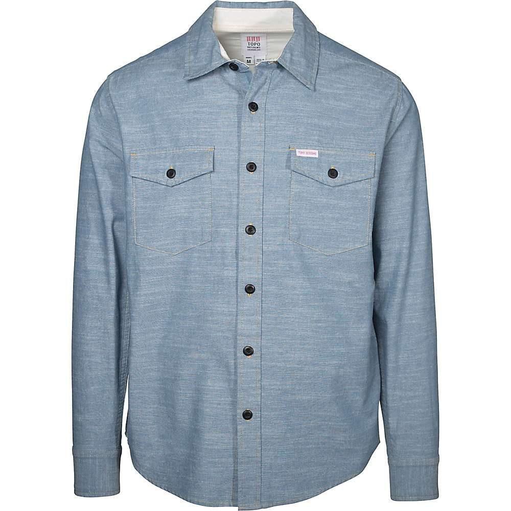 トポ デザイン Topo Designs メンズ ハイキング・登山 トップス【Chambray LS Shirt】Light Blue F