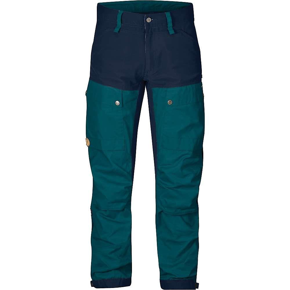 フェールラーベン Fjallraven メンズ ハイキング・登山 ボトムス・パンツ【Keb Trouser】Glacier Green / Dark Navy