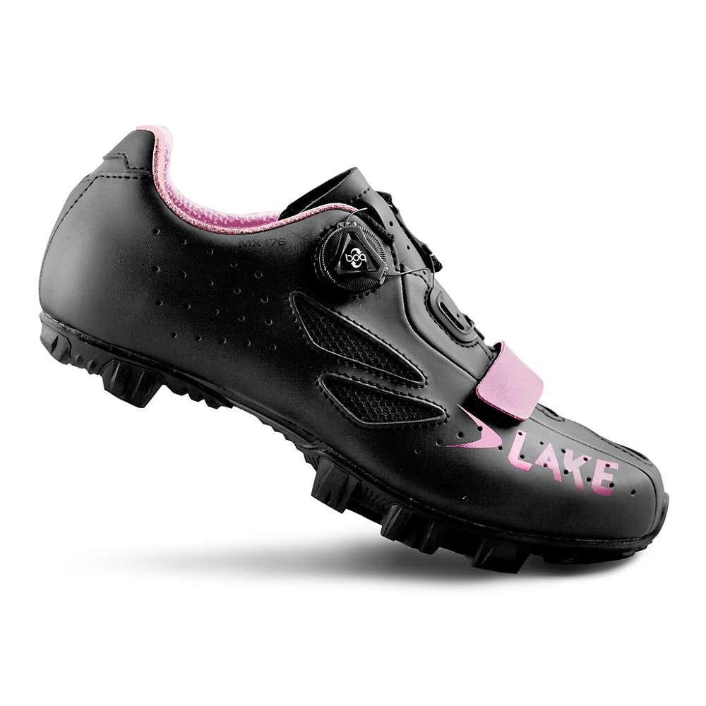 レイク Lake レディース 自転車 シューズ・靴【MX 176 Cycling Shoe】Black/Pink