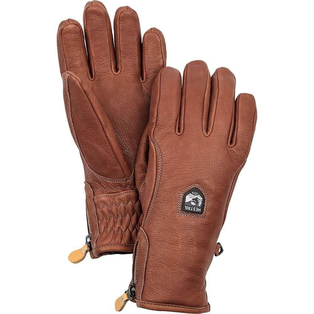 ヘスタ Hestra メンズ クライミング グローブ【Furano Swisswool Leather Glove】Brown / Brown