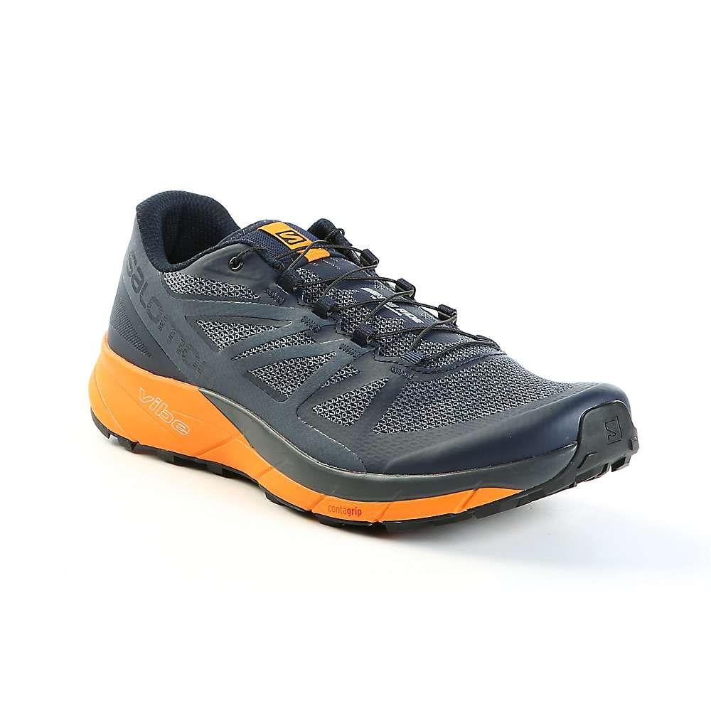 サロモン Salomon メンズ ランニング・ウォーキング シューズ・靴【Sense Ride Shoe】Navy Blazer / Bright Marigold / Ombre Blue