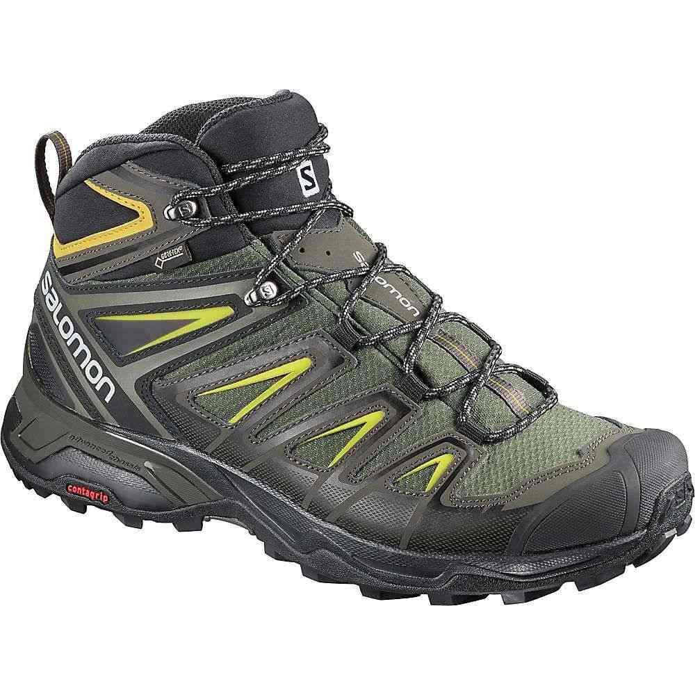 サロモン Salomon メンズ ハイキング・登山 シューズ・靴【X Ultra 3 Mid GTX Shoe】Castor Gray / Black / Green Sulphur