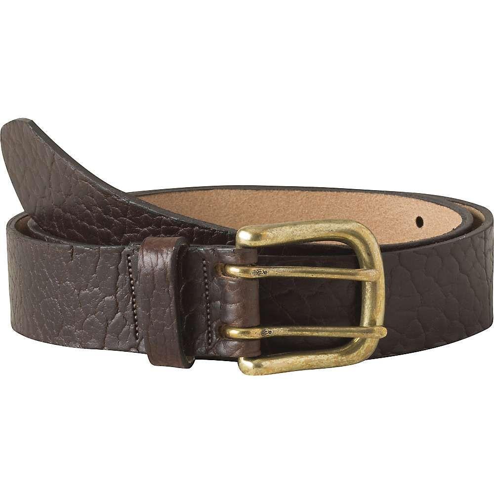 マウンテンカーキス Mountain Khakis ユニセックス ベルト【Vintage Brass Bison Belt】Brown