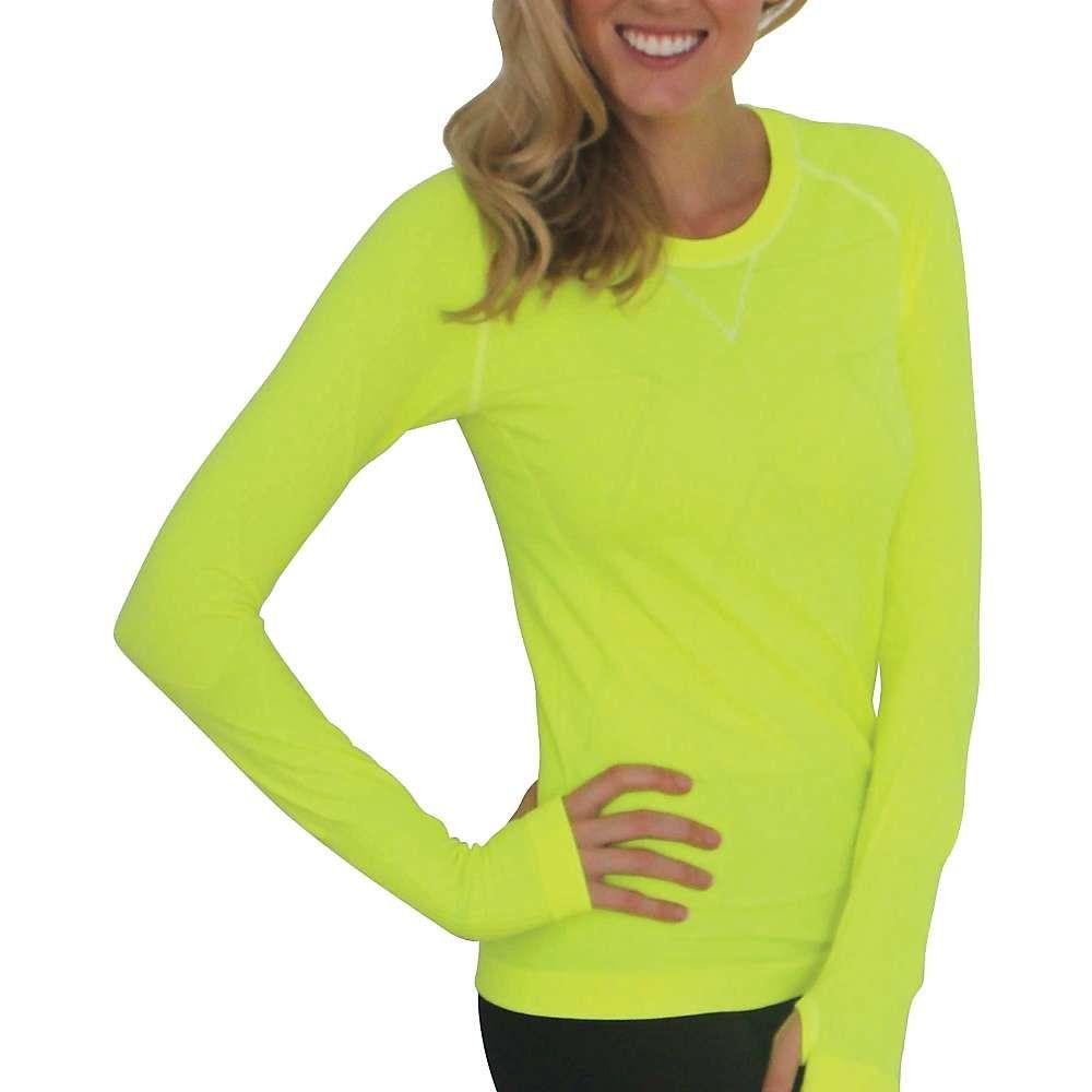 ゼンサー Zensah レディース ランニング・ウォーキング トップス【Run Seamless L/S Shirt】Neon Yellow