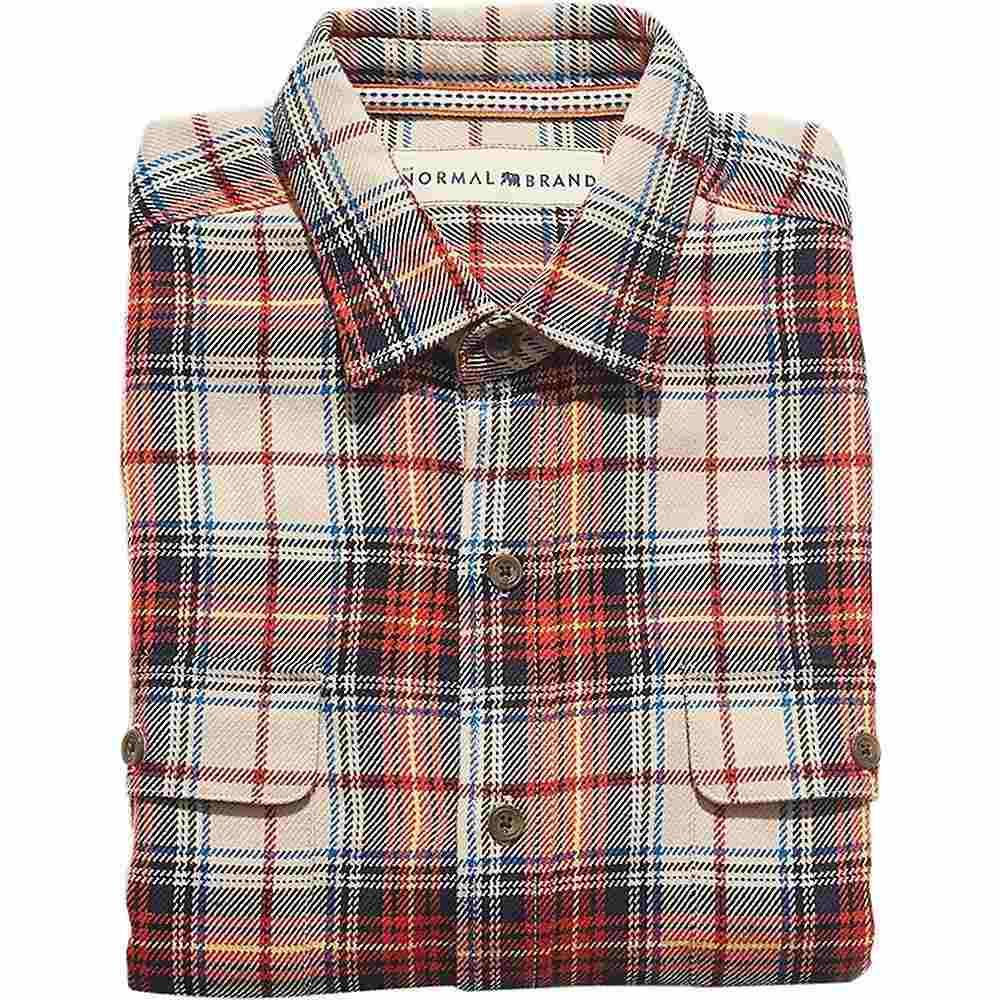 ノーブランド The Normal Brand メンズ ハイキング・登山 トップス【Jimbo Double Pocket Overshirt】Navy / Orange