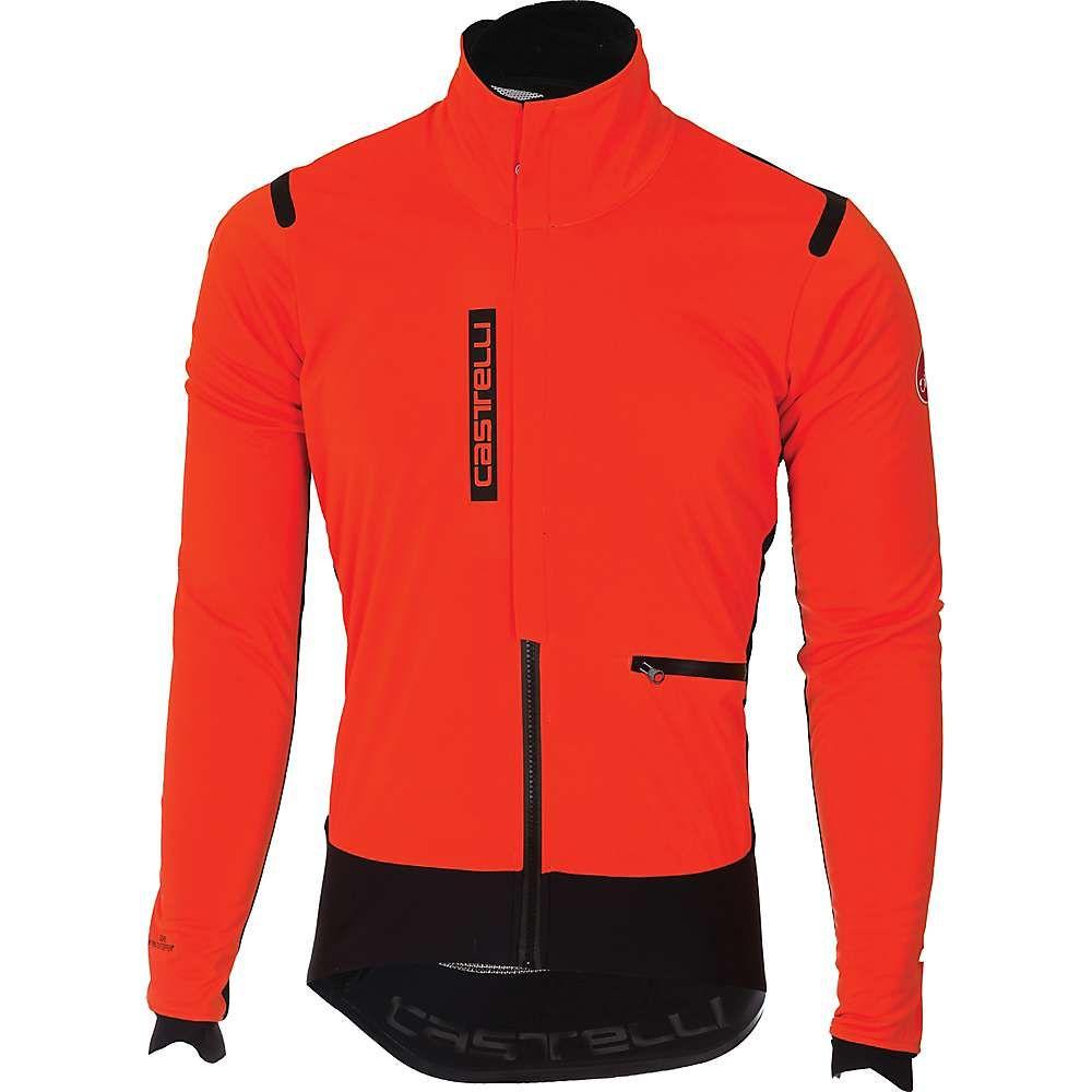 カステリ Castelli メンズ 自転車 アウター【Alpha ROS Jacket】Orange / Black