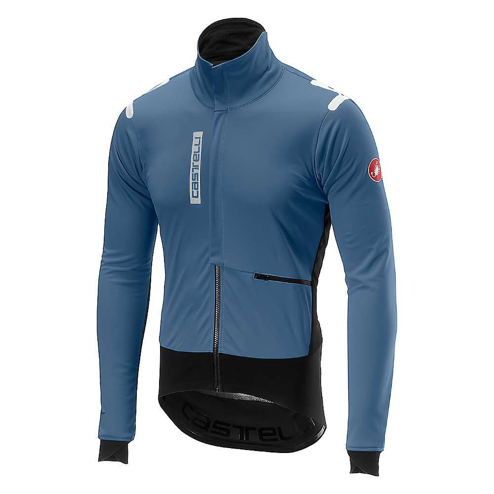 カステリ Castelli メンズ 自転車 アウター【Alpha ROS Jacket】Moonlight Blue / Black