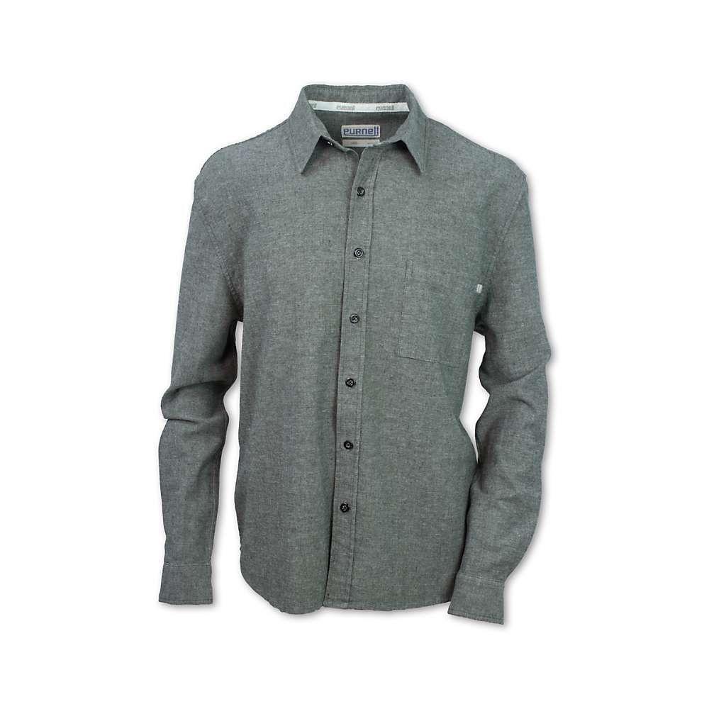 パーネル Purnell メンズ ハイキング・登山 トップス【Flax Chambray Button Up LS Shirt】Olive
