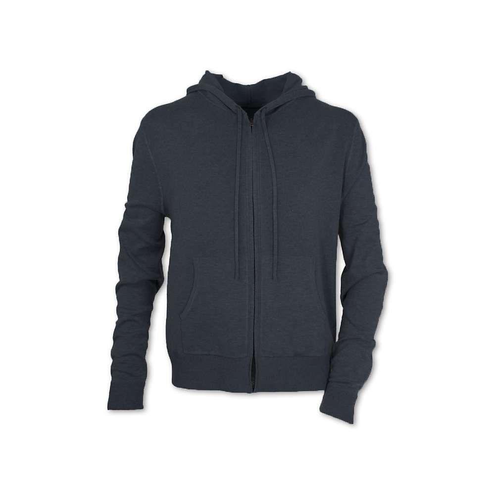 パーネル Purnell メンズ ハイキング・登山 トップス【Ribbed Knit Zip Up Hoodie】Charcoal
