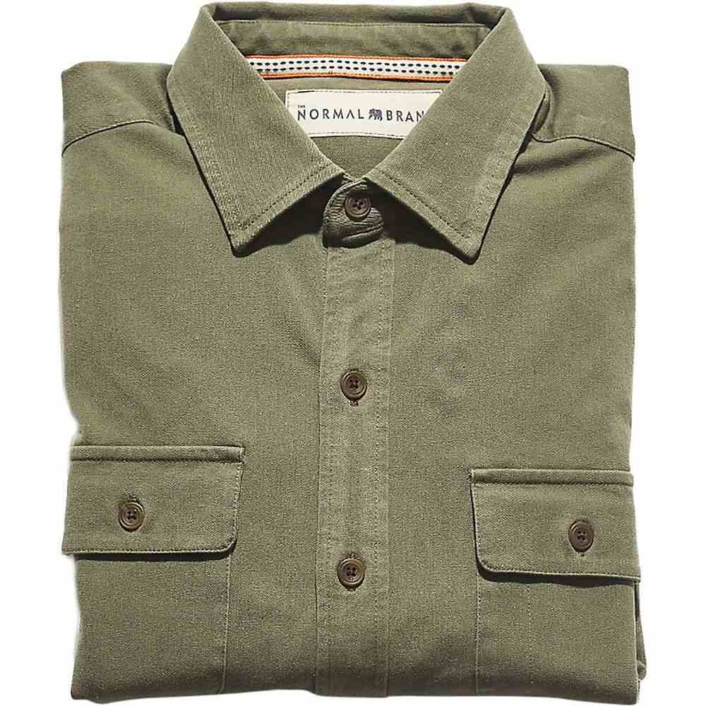 ノーブランド The Normal Brand メンズ ハイキング・登山 トップス【Shooter Four-Way Stretch Twill Shirt】Hunter Green