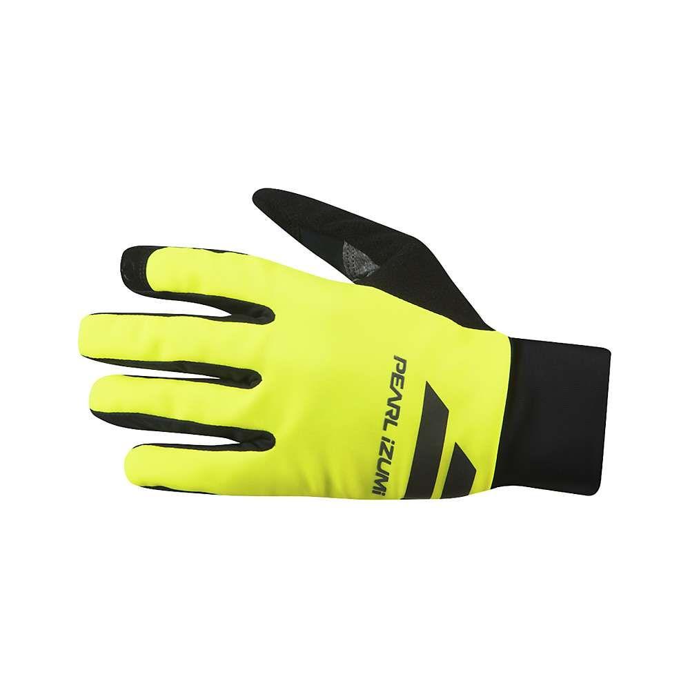 パールイズミ Pearl Izumi メンズ 自転車 グローブ【Escape Softshell Glove】Black / Screaming Yellow