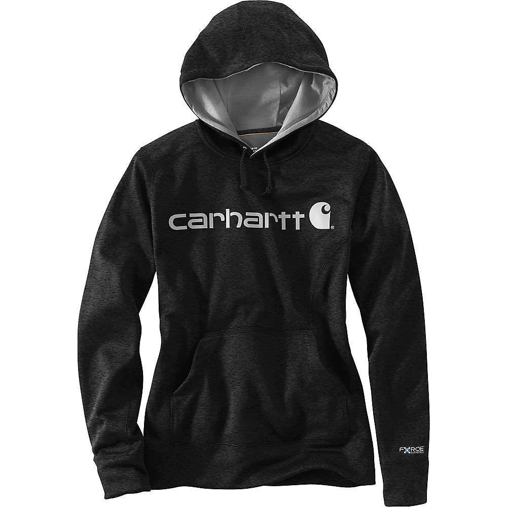 カーハート Carhartt レディース ハイキング・登山 トップス【Force Extremes Signature Graphic Hooded Sweatshirt】Black Heather