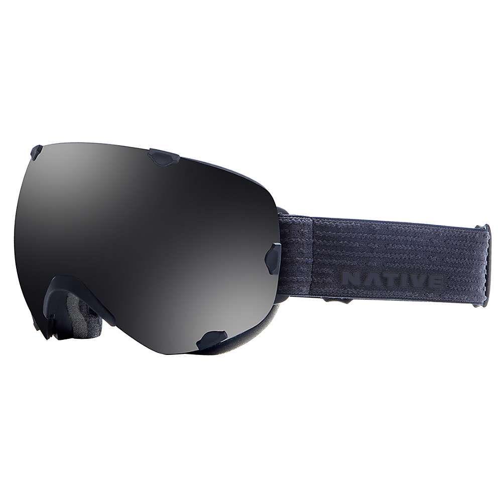 ネイティブ Native メンズ スキー・スノーボード ゴーグル【Spindrift Polarized Goggle】Black Jack / Dark Grey