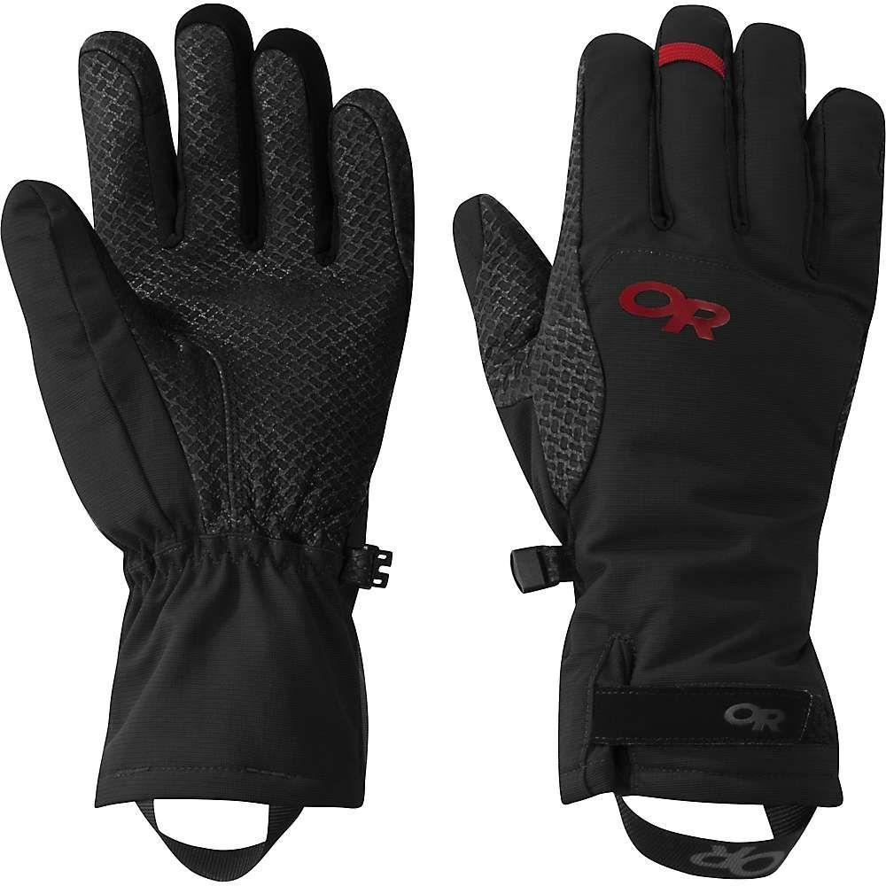 アウトドアリサーチ Outdoor Research レディース クライミング グローブ【Ouray Ice Glove】Black / Tomato
