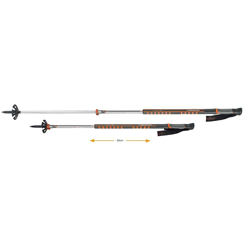 コンパーデル Komperdell ユニセックス ハイキング・登山【Contour Titanal II Pro Trekking Pole】Black / Orange