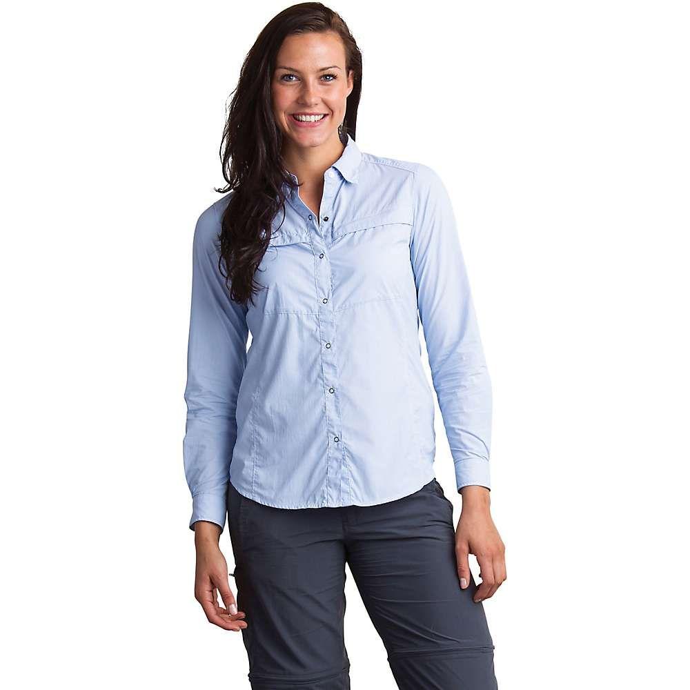 エクスオフィシオ ExOfficio レディース ハイキング・登山 トップス【BugsAway Halo Stripe LS Shirt】Chambray