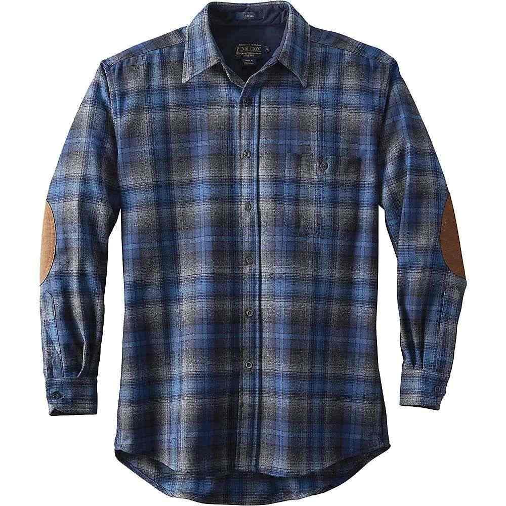 ペンドルトン Pendleton メンズ ハイキング・登山 トップス【Long Sleeve Trail Shirt w/ Elbow Patch】Blue/Grey Ombre