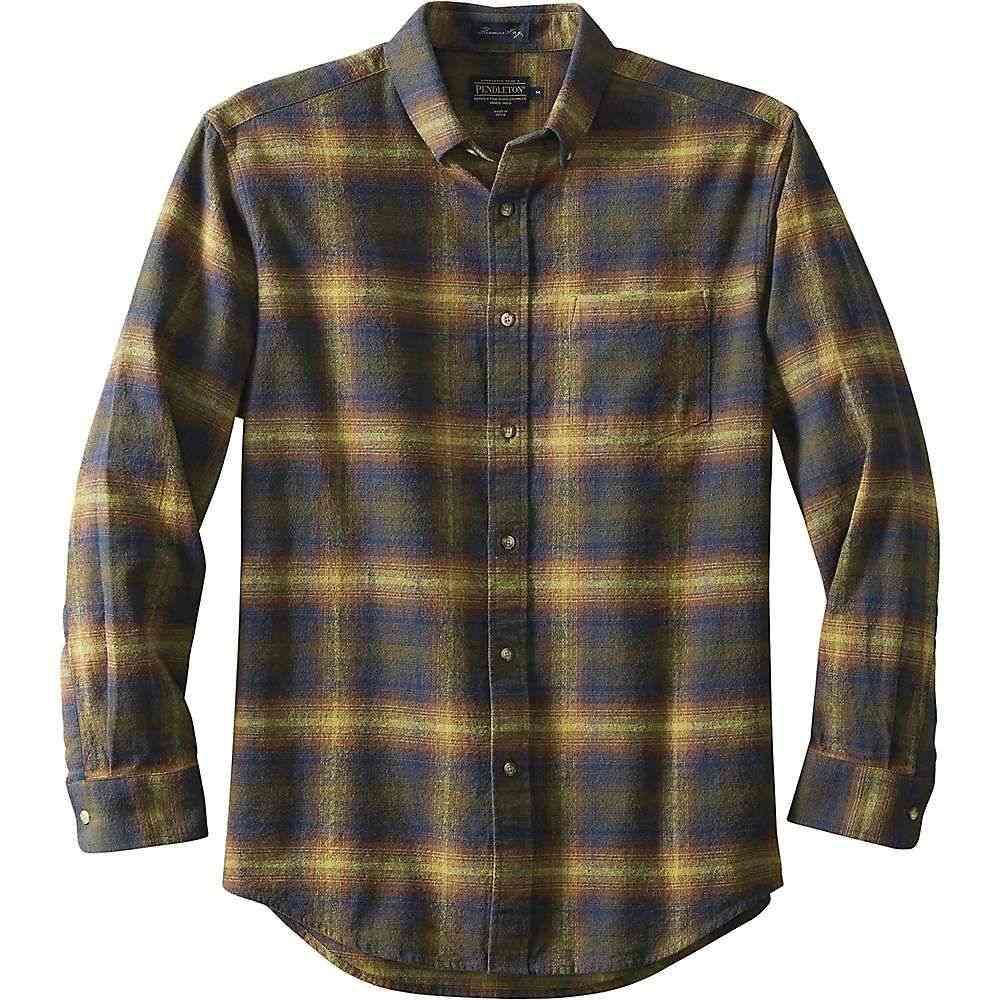 ペンドルトン Pendleton メンズ ハイキング・登山 トップス【Lister Flannel Fitted】Olive Blue Ombre