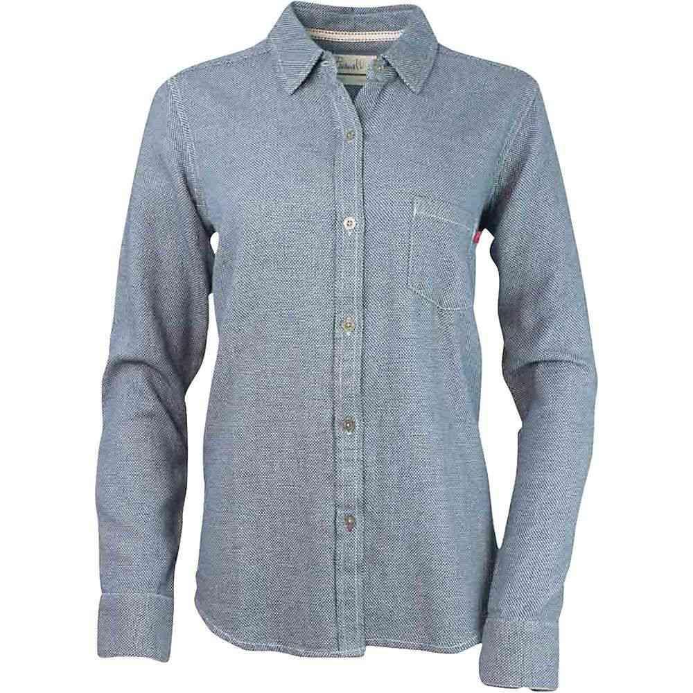 パーネル Purnell レディース ハイキング・登山 トップス【Dobby Button-Up LS Shirt】Indigo