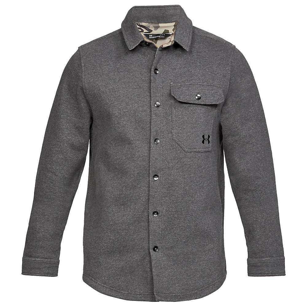 人気No.1 アンダーアーマー Under Armour メンズ ハイキング・登山 トップス メンズ【Buckshot Fleece/ Fleece Button Up Shirt】Charcoal Medium Heather/ Black, DEPOS 2号館:aecc9356 --- necronero.forumfamilly.com