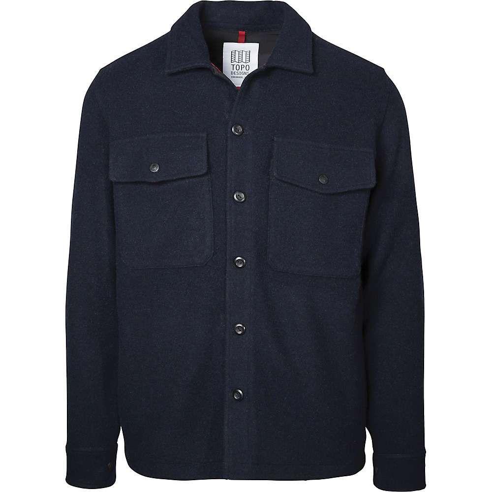トポ デザイン Topo Designs メンズ ハイキング・登山 トップス【Wool Shirt】Navy