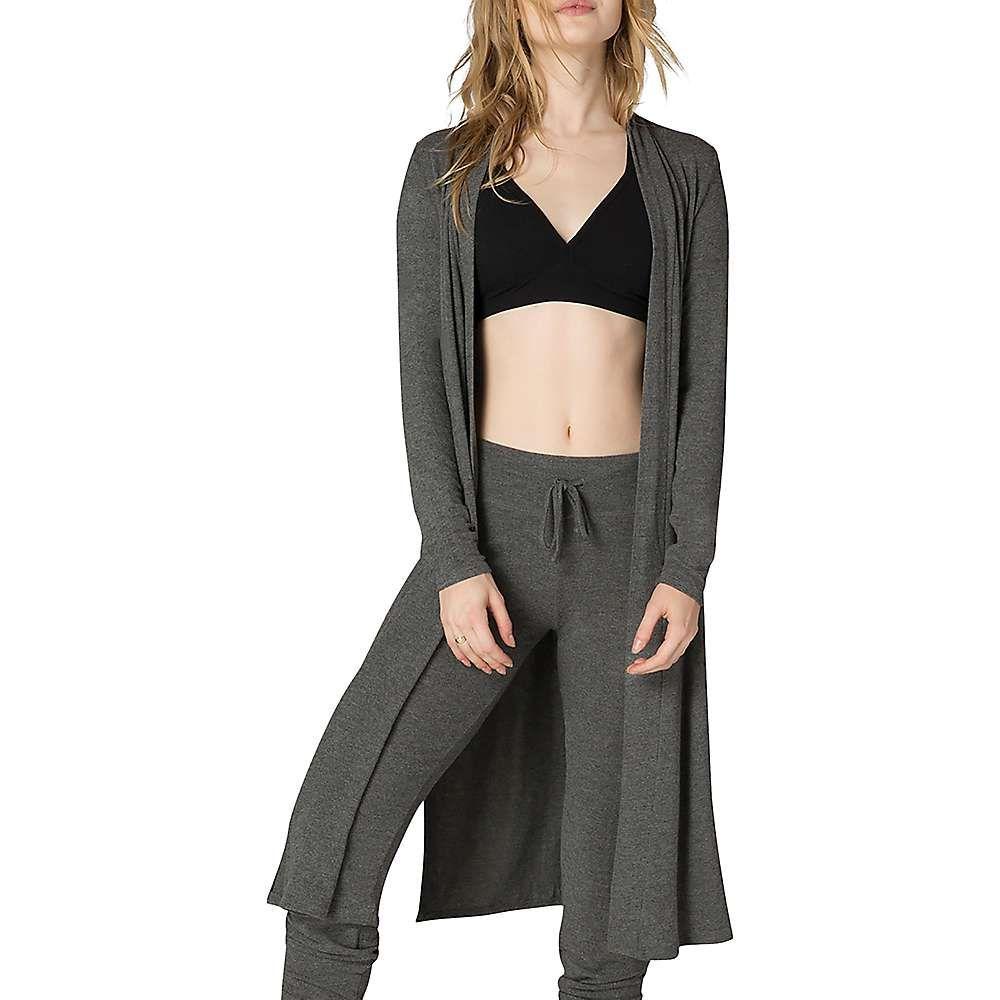 ビヨンドヨガ Beyond Yoga レディース ヨガ・ピラティス トップス【High Slits Long Duster Cardigan】Mid-Heather Grey