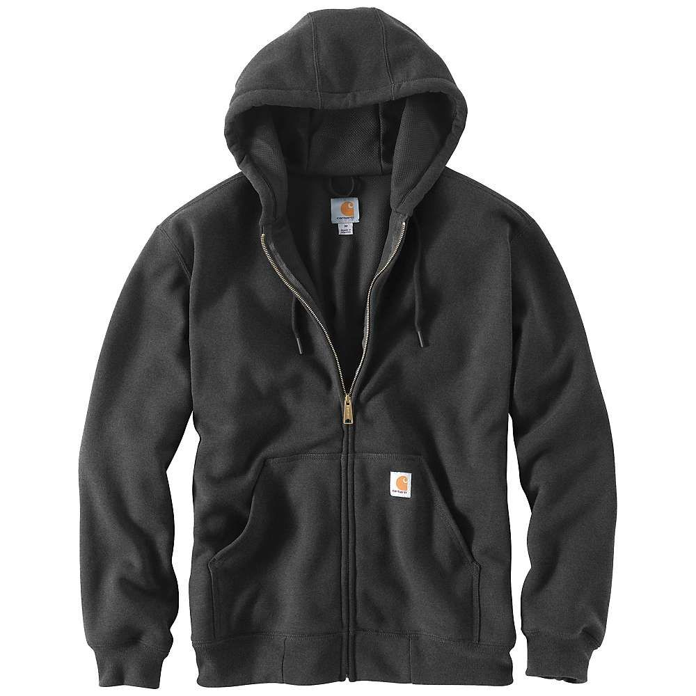 カーハート Carhartt メンズ ハイキング・登山 トップス【Rain Defender Rutland Thermal Lined Hooded Zip Front Sweatshirt】Carbon Heather