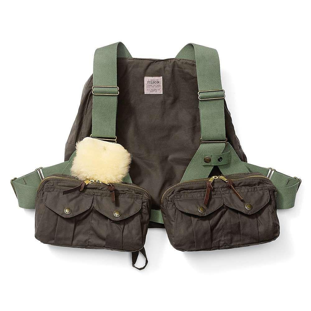 フィルソン Filson メンズ 釣り・フィッシング トップス【Cover Cloth Foul Weather Fly Fishing Vest】Otter Green