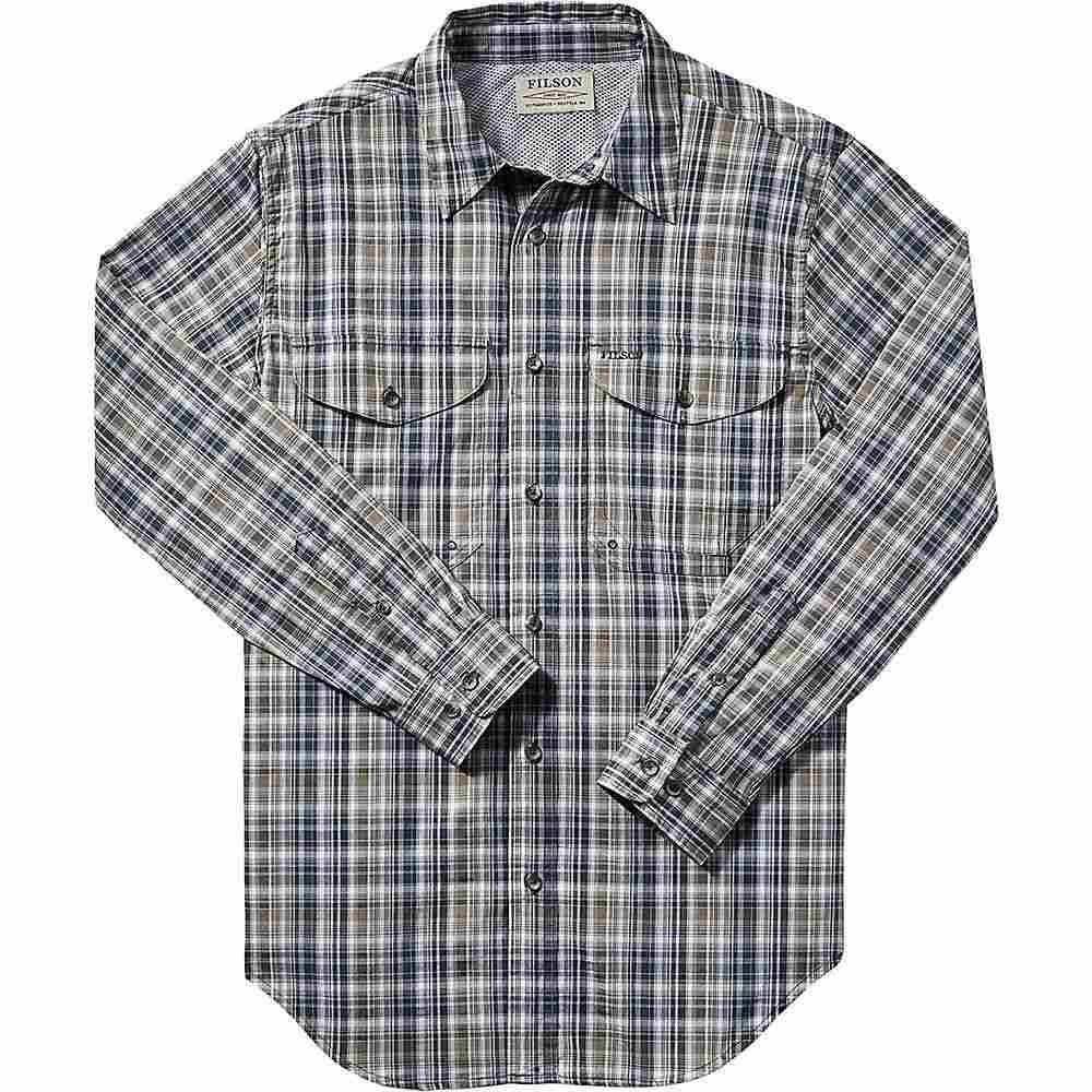 フィルソン Filson メンズ ハイキング・登山 トップス【Twin Lakes Sport Shirt】Navy/White/Olive Plaid