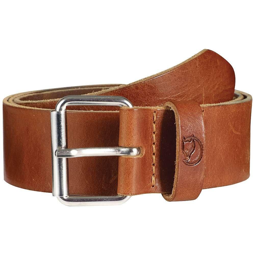 フェールラーベン Fjallraven メンズ ベルト【Singi 4.0cm Belt】Leather Cognac
