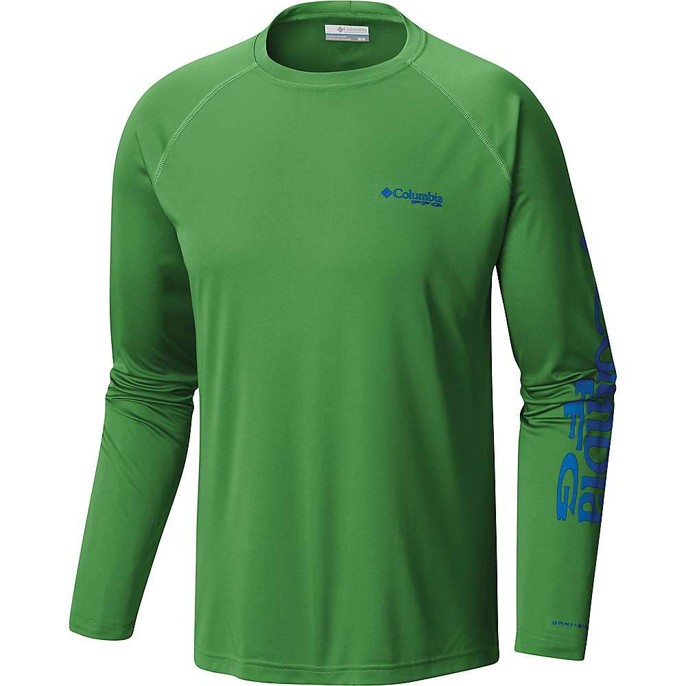 【当店限定販売】 コロンビア Columbia メンズ ハイキング トップス【Terminal・登山 トップス【Terminal Columbia Shirt】Clean Tackle LS Shirt】Clean Green/Vivid Blue Logo, ジョウナンク:e122e061 --- canoncity.azurewebsites.net