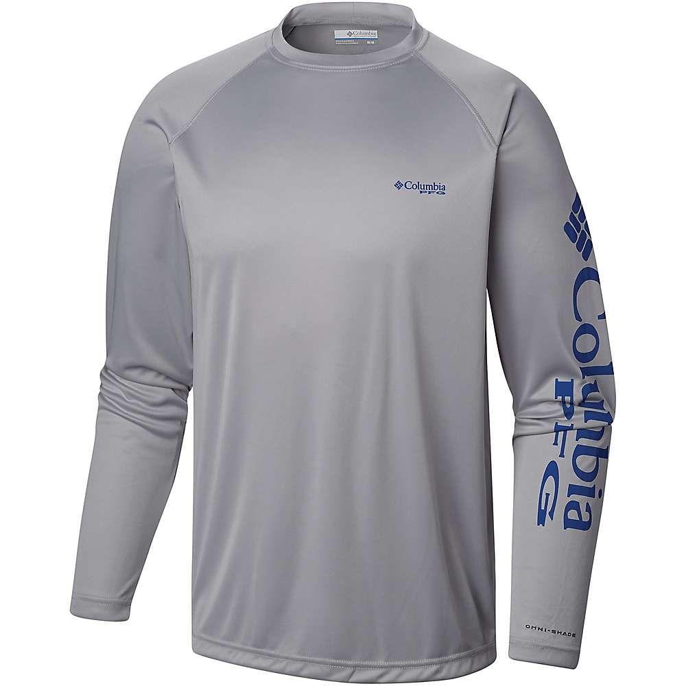 コロンビア Columbia メンズ ハイキング・登山 トップス【Terminal Tackle LS Shirt】Cool Grey/Vivid Blue Logo