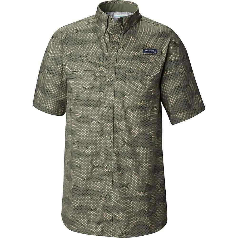 コロンビア Columbia メンズ ハイキング・登山 トップス【Super Low Drag SS Shirt】Cypress Multi Fish Print