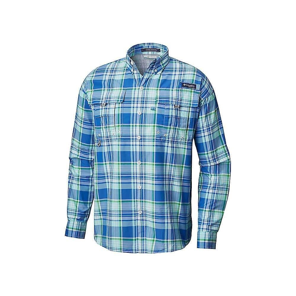 コロンビア Columbia メンズ ハイキング・登山 トップス【Super Bahama LS Shirt】Gulf Stream Large Plaid