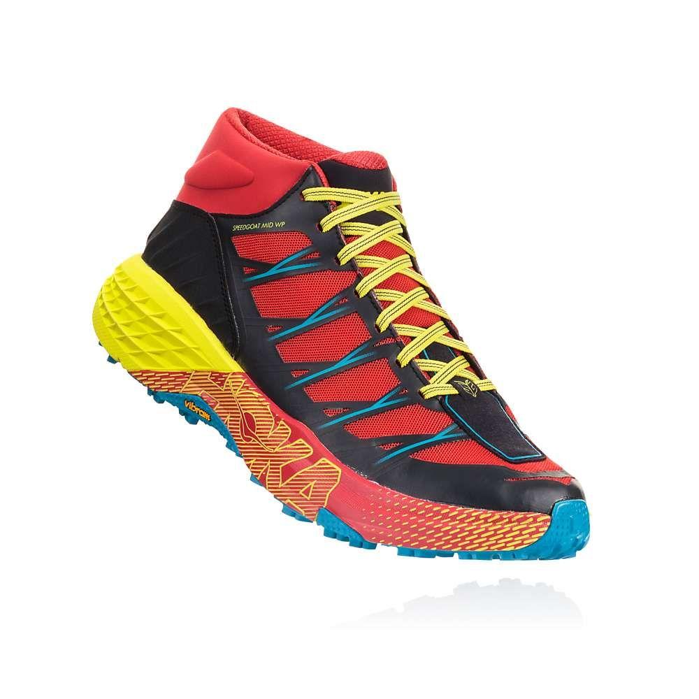 ホカ オネオネ Hoka One One メンズ ランニング・ウォーキング シューズ・靴【Speedgoat Mid WP Shoe】Chinese Red/Caribbean Sea