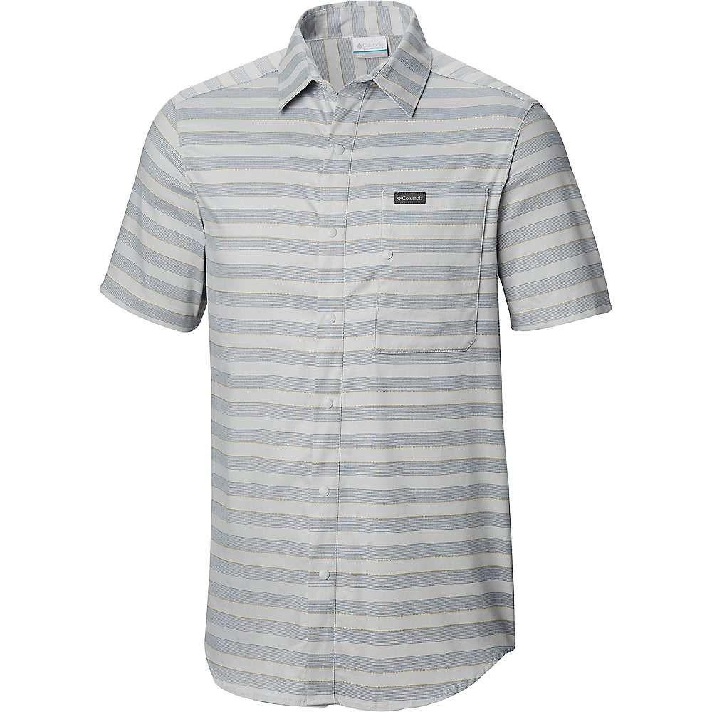 安い割引 コロンビア Columbia メンズ ハイキング SS メンズ・登山 トップス【Shoals Point Point SS Shirt】Cool Grey Stripe, one plate LuLu:3239063b --- canoncity.azurewebsites.net