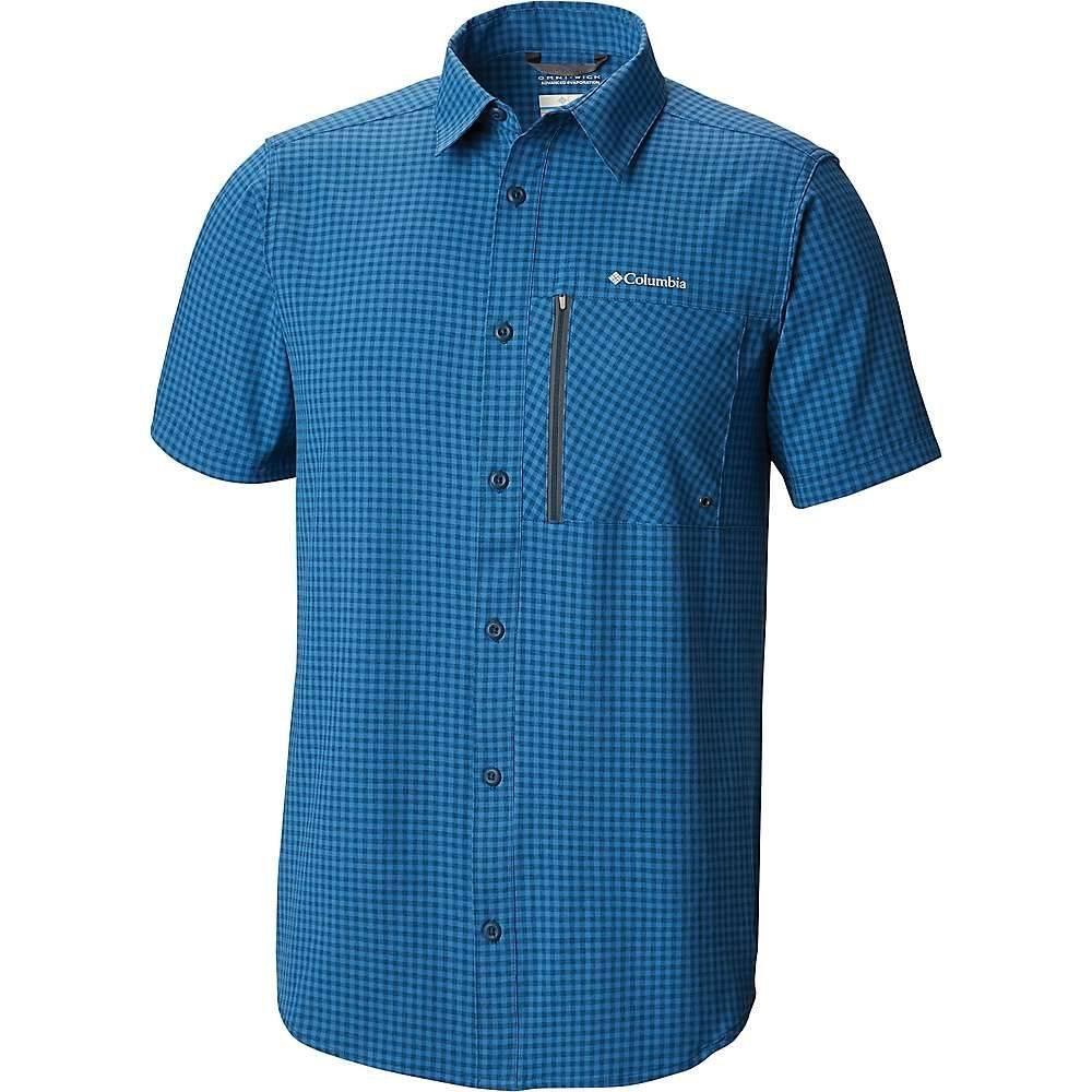 コロンビア Columbia メンズ ハイキング・登山 トップス【Tech Trail SS Shirt】Petrol Blue Gingham