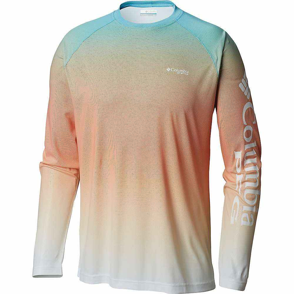 コロンビア Columbia メンズ ハイキング・登山 トップス【Terminal Deflector Printed LS Shirt】Riptide Gradient