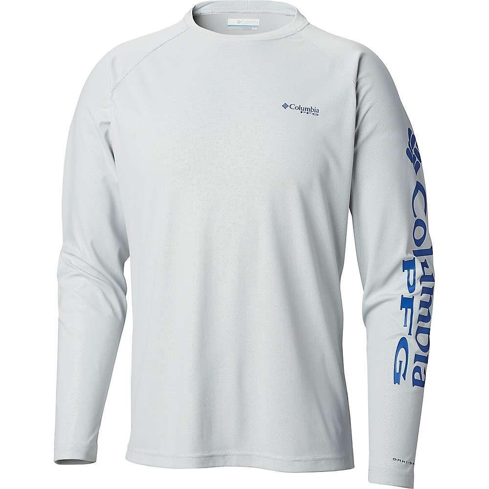 コロンビア Columbia メンズ ハイキング・登山 トップス【Terminal Deflector LS Shirt】Cool Grey/Vivid Blue