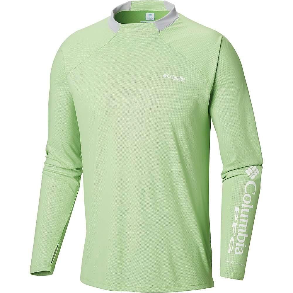 コロンビア Columbia メンズ ハイキング・登山 トップス【Terminal Deflector Zero LS Shirt】Green Mamba/Cool Grey