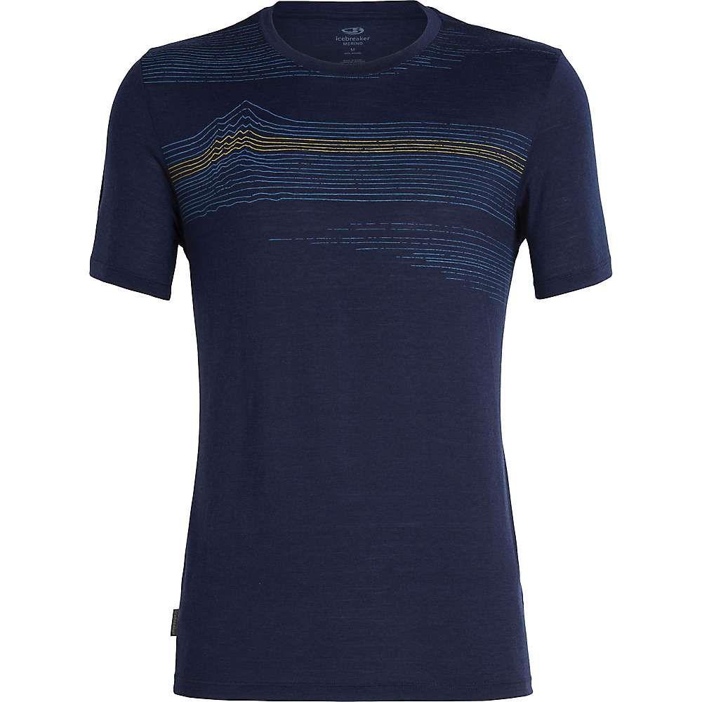 アイスブレーカー Icebreaker メンズ ハイキング・登山 トップス【Tech Lite SS Crewe Linework Shirt】Midnight Navy