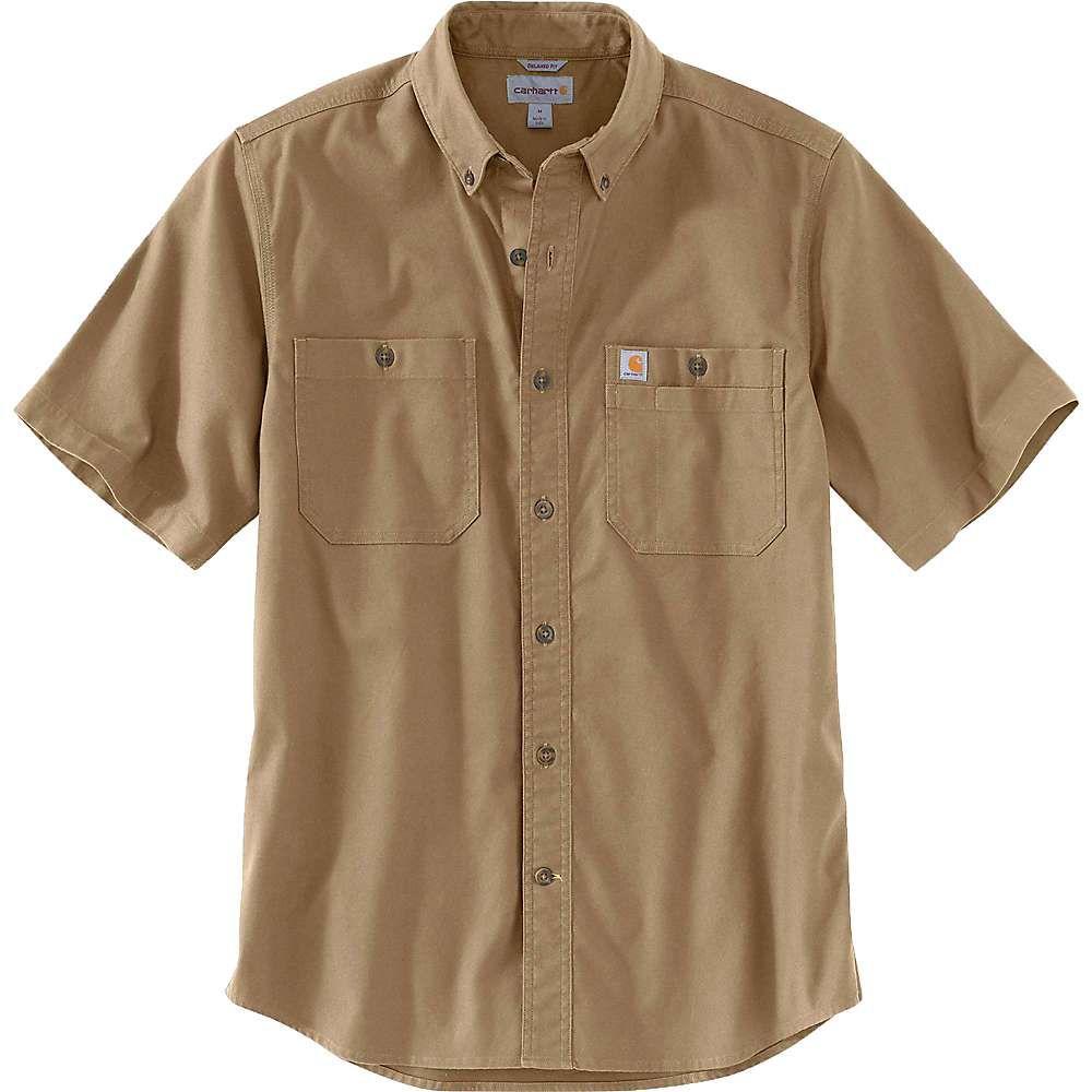 カーハート Carhartt メンズ トップス 半袖シャツ【Rugged Flex Rigby SS Work Shirt】Dark Khaki
